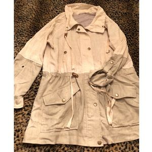 Blu Pepper Large tan trench jacket